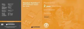 to download the Plantronics MX10 User Guide - PMC Telecom