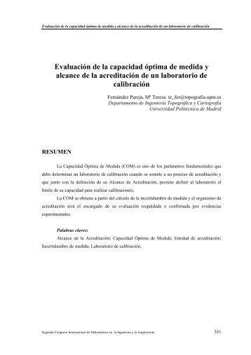 Evaluación de la capacidad - Universidad Politécnica de Madrid