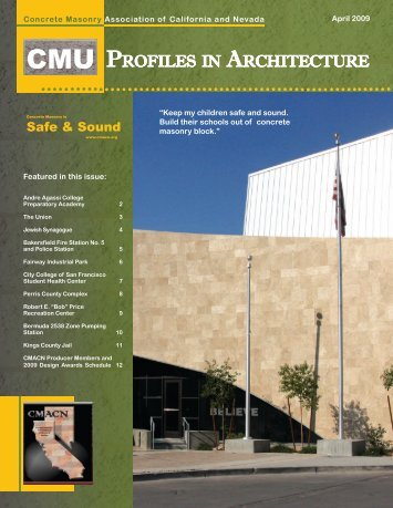 April 2009.indd - Concrete Masonry Association of California and ...