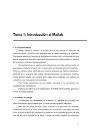 Tema 1: Introducción al Matlab