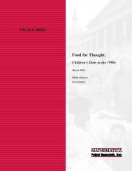 Food for Thought: Children's Diets in the 1990s - Mathematica Policy ...