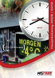 Analoge und digitale Uhren - NIS time