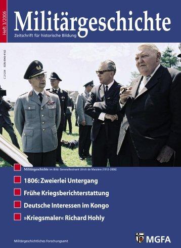 Zeitschrift Militärgeschichte [Heft 03/2006]