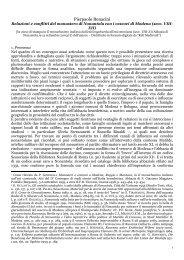 Relazioni e conflitti del monastero di Nonantola con i vescovi ... - TSC