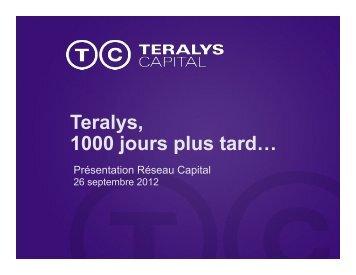 Teralys, 1000 jours plus tard… - Réseau capital