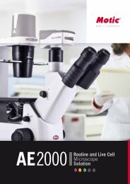 Motic AE2000 Inverted Microscope Brochure - Meyer Instruments, Inc.