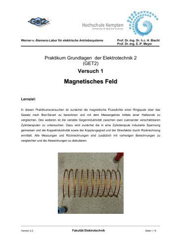 Versuch: Magnetisches Feld