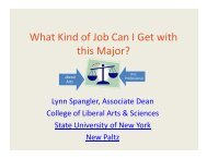 What Kind of Job Can I Get with this Major? - Council of Colleges of ...