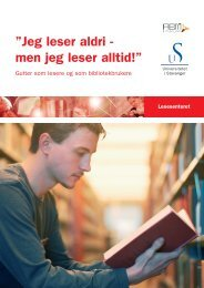 """Jeg leser aldri - men jeg leser alltid!"""" - Lesesenteret - Universitetet i ..."""