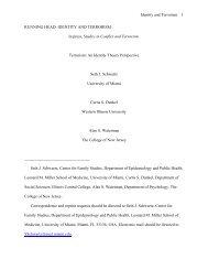 running head: identity and terrorism - Seth J. Schwartz, Ph.D.