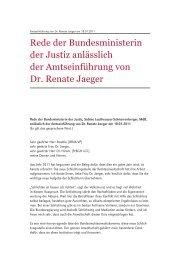 Rede Bundesministerin der Justiz Frau Leutheusser-Schnarrenberger