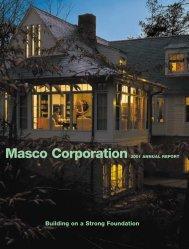 Masco Corporation 2001 ANNUAL REPORT