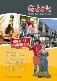 Urlaubsplaner 2014 herunterladen - Einbeck Marketing