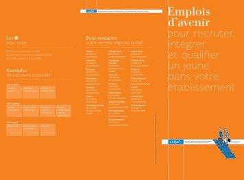 Dépliant Emplois d'avenir UNIFAF - Emploi.gouv.fr