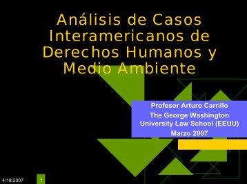 Análisis de Casos Interamericanos de Derechos Humanos y Medio ...
