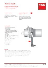 Fuchslocher valve gate nozzle type G 70 H-lever operated