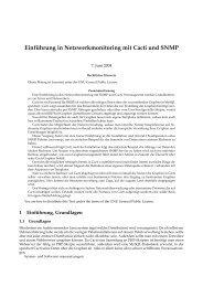 Einf ¨uhrung in Netzwerkmonitoring mit Cacti und SNMP