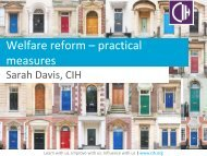 Sarah Davis, Policy and Practice Officer, Chartered Institute of Housing