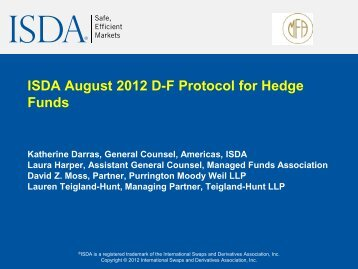 Download the Slides (PDF) - ISDA