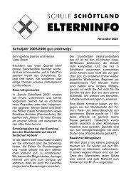Schuljahr 2005/2006 gut unterwegs - Schule Schöftland
