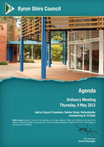 Agenda - Byron Shire Council - NSW Government