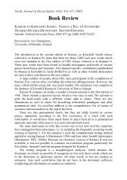 Book Review - Nordic Journal of African Studies - Helsinki.fi