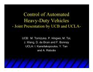Control of Automated Heavy-Duty Vehicles - California PATH