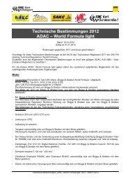 Technische Bestimmungen 2012 ADAC – World Formula light - wakc