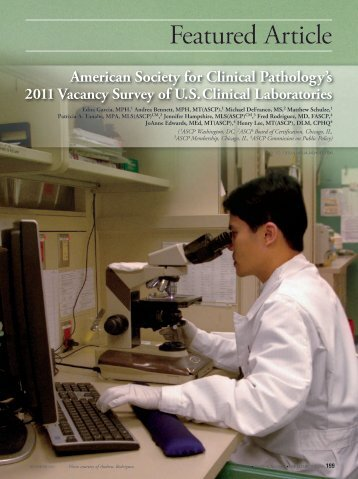 2011 Vacancy Survey Of U.S. Clinical Laboratories - LabMedicine