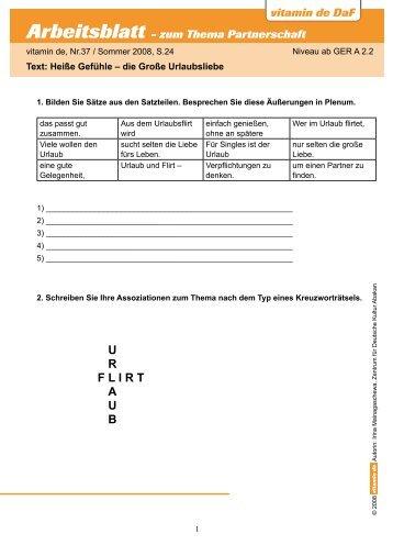 arbeitsbl tter zum ii text herunterladen deutsch lernen mit vitamin. Black Bedroom Furniture Sets. Home Design Ideas