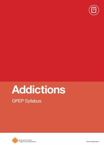 Addictions - The Royal New Zealand College of General Practitioners
