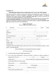 Allegato 2 fac simile dichiarazione sostitutiva cumulativa - Milano ...