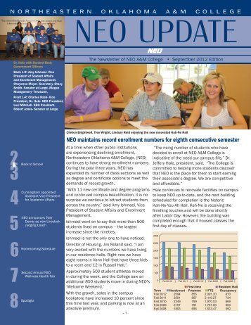 NEO maintains record enrollment numbers for eighth consecutive ...