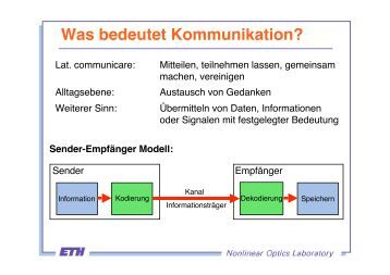 Was bedeutet Kommunikation?