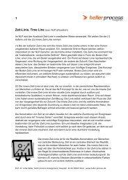 1 Zeit-Linie, Time Line (aus: NLP.at/Lexikon) - NLP-Netzwerk Bayern