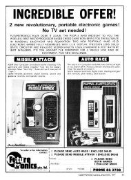 Mattel Aquarius; Missile Attack; Auto Race
