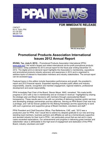 Promotional Products Association International Issues 2012 ... - PPAI
