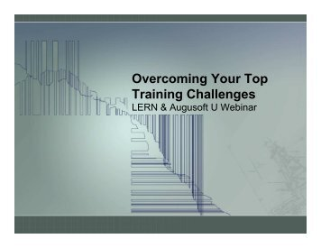 Overcome Training Challenges - Augusoft