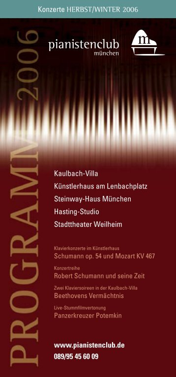 Programm Herbst/Winter 2006 - Pianistenclub eV