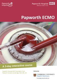 Papworth ECMO Course Programme - Papworth Hospital