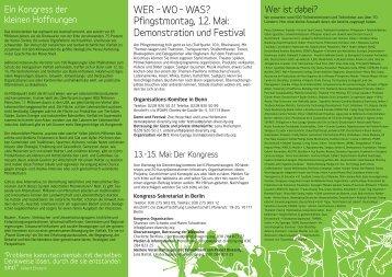 Demonstration und Festival - Planet Diversity