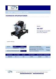 technische spezifikationen aal-007 - IGP GENERATOREN GmbH