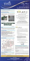 News for the week of June 19 to June 25, 2013 - City of Yorkton