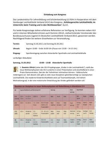 Programm Kongress - NLV