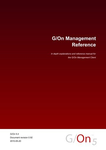 G/On Management Reference - Giritech