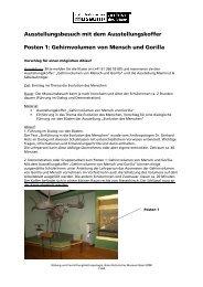 Museumskoffer Evolution Posten 1 - Naturhistorisches Museum