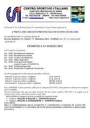 CENTRO SPORTIVO ITALIANO - CSI Parma