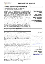 Meilensteine- Stand Februar 2013 - Bundesministerium für Familie ...