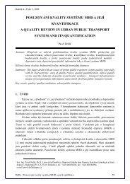 Posuzování kvality systému MHD a její kvantifikace - Univerzita ...