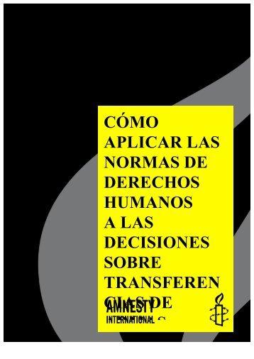 Como aplicar las normas de derechos humanos a las ... - Control Arms
